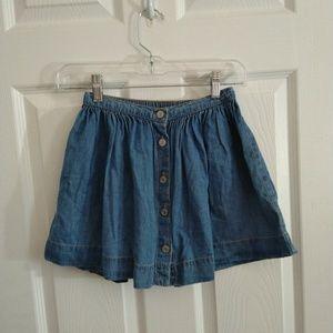 GAP kids blue jean skirt size 8